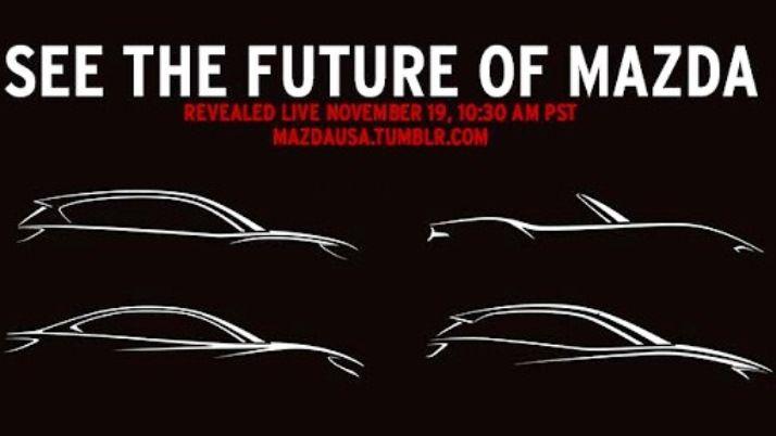 Компания Mazda в Лос-Анджелесе опубликовала тизер всех новинок