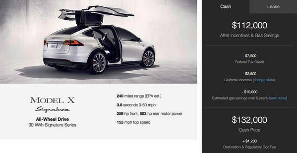 Tesla Motors начала предзаказ модели 2016 года